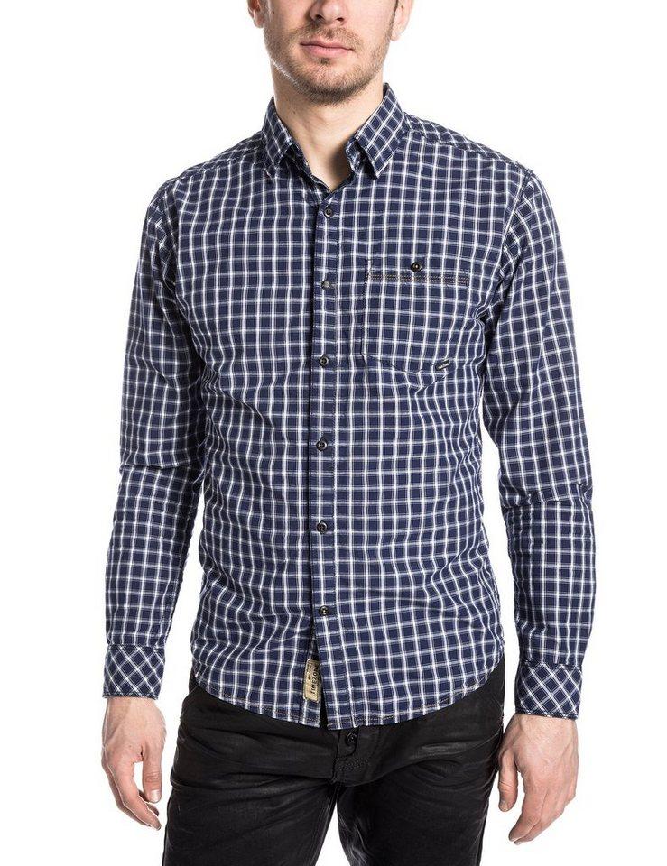 TIMEZONE Hemden »DonnyKentTZ« in blue denim check