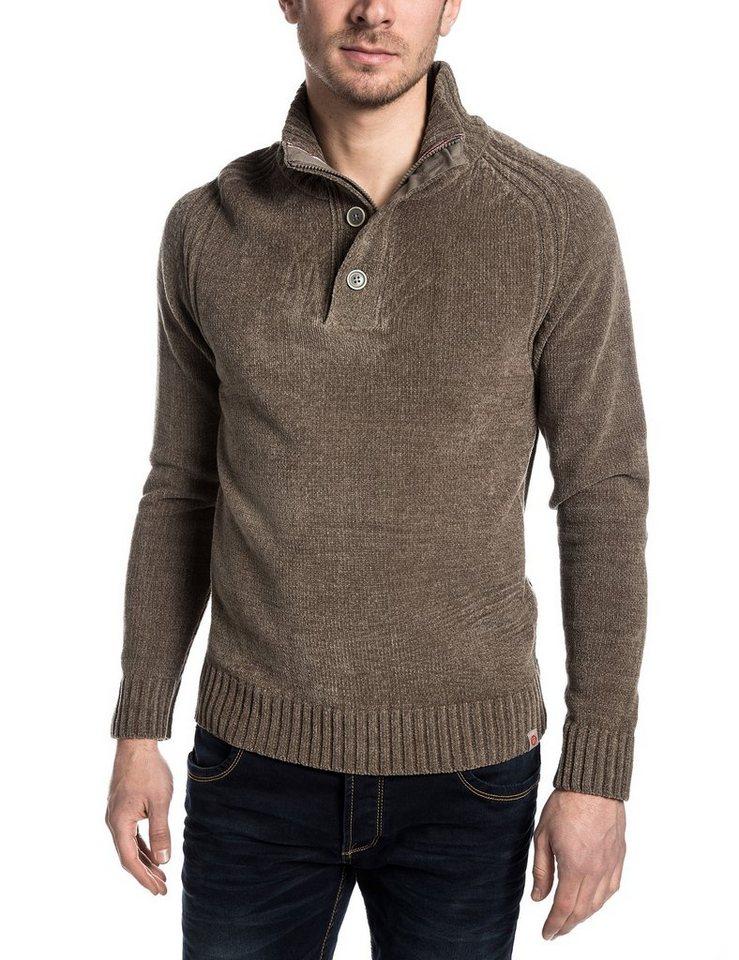 TIMEZONE Pullover »DonVitoTZ« in sludge brown