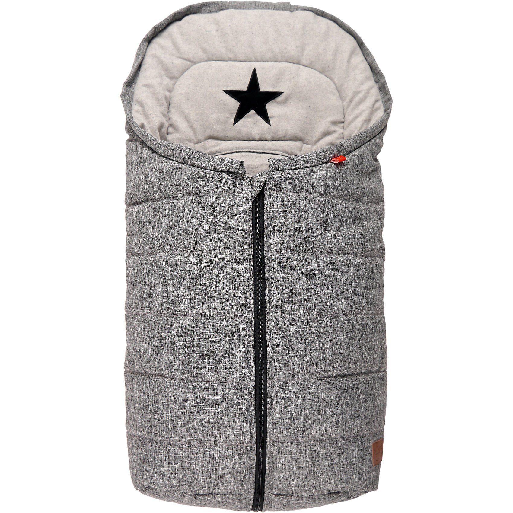 Kaiser Fußsack ANNA für Babyschale, schwarz/grau