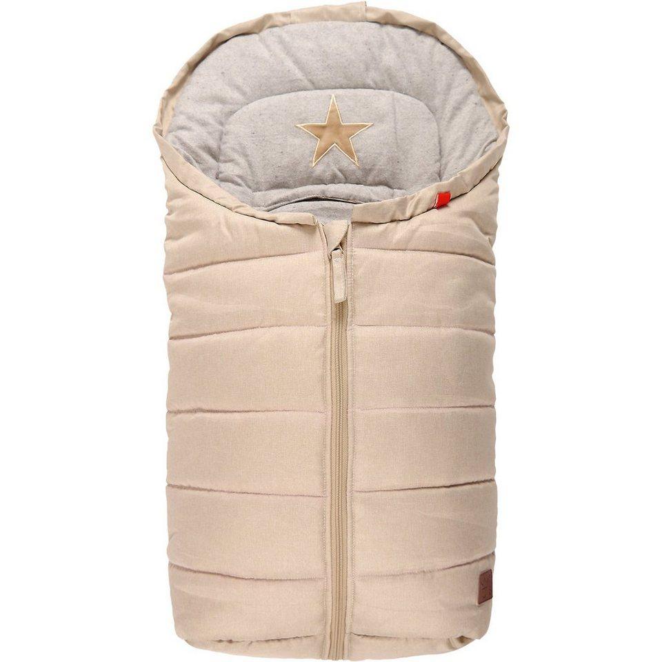 Kaiser Fußsack ANNA für Babyschale, sand/grau
