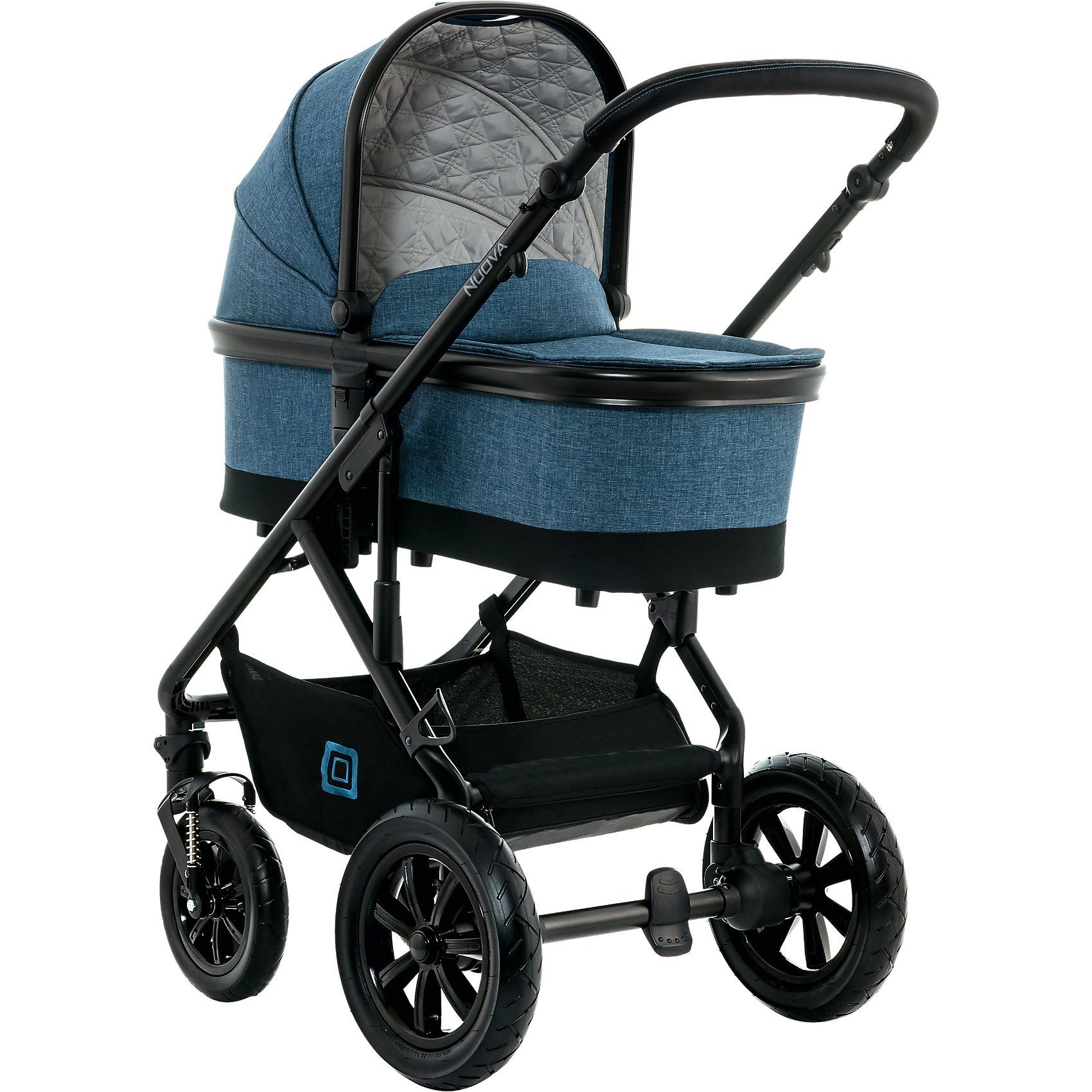 Moon Kombi Kinderwagen NUOVA City, blue/melange