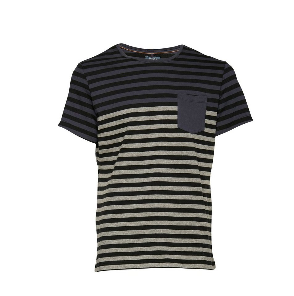 Blend Slim fit, Schmale Form, T-Shirt in Marine