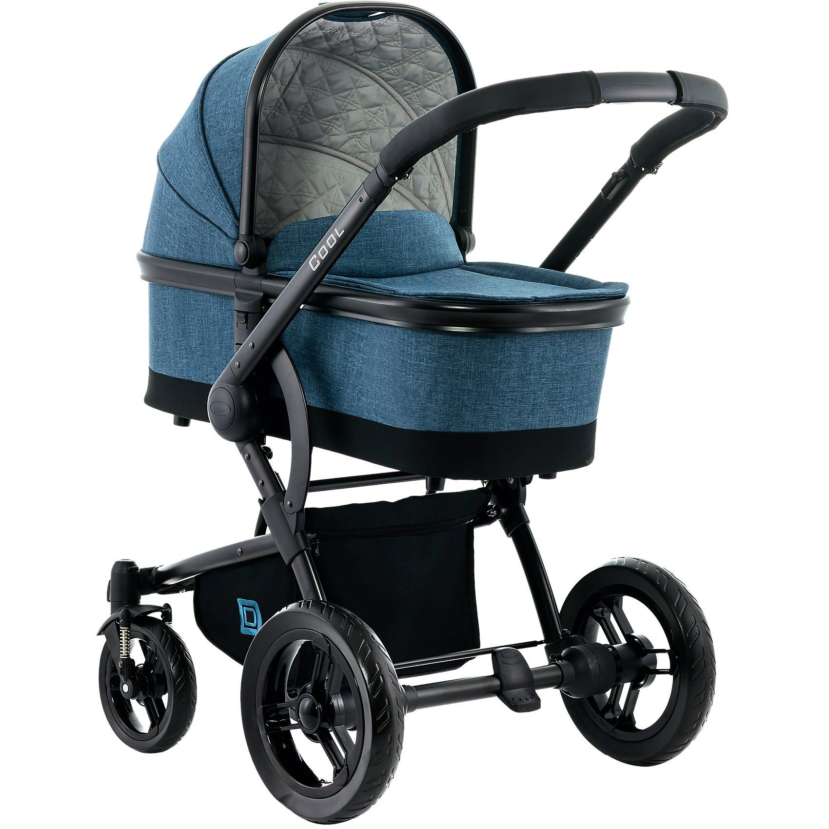 Moon Kombi Kinderwagen COOL City, blue/melange