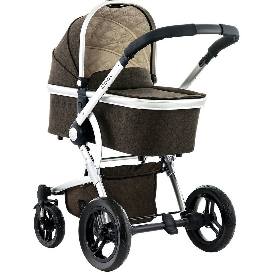 Moon Kombi Kinderwagen COOL City, brown/melange in braun meliert