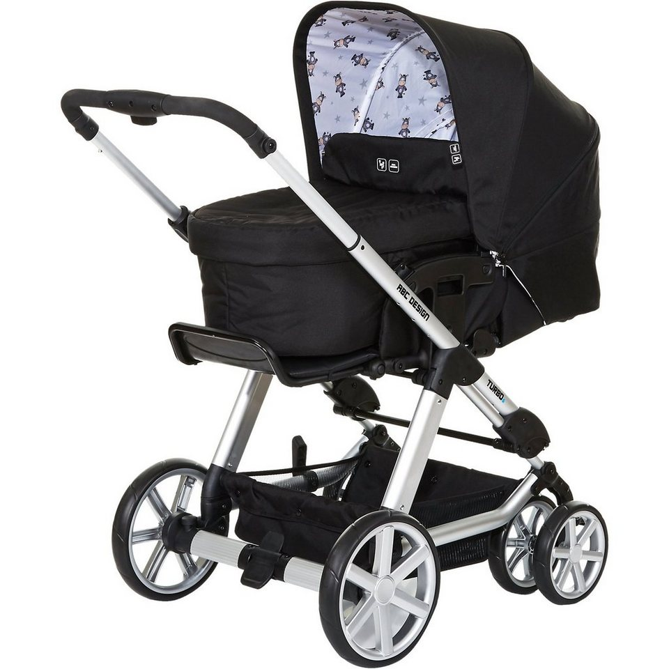 ABC Design Kombi Kinderwagen Turbo 6, zebra, 2017 in schwarz/weiß