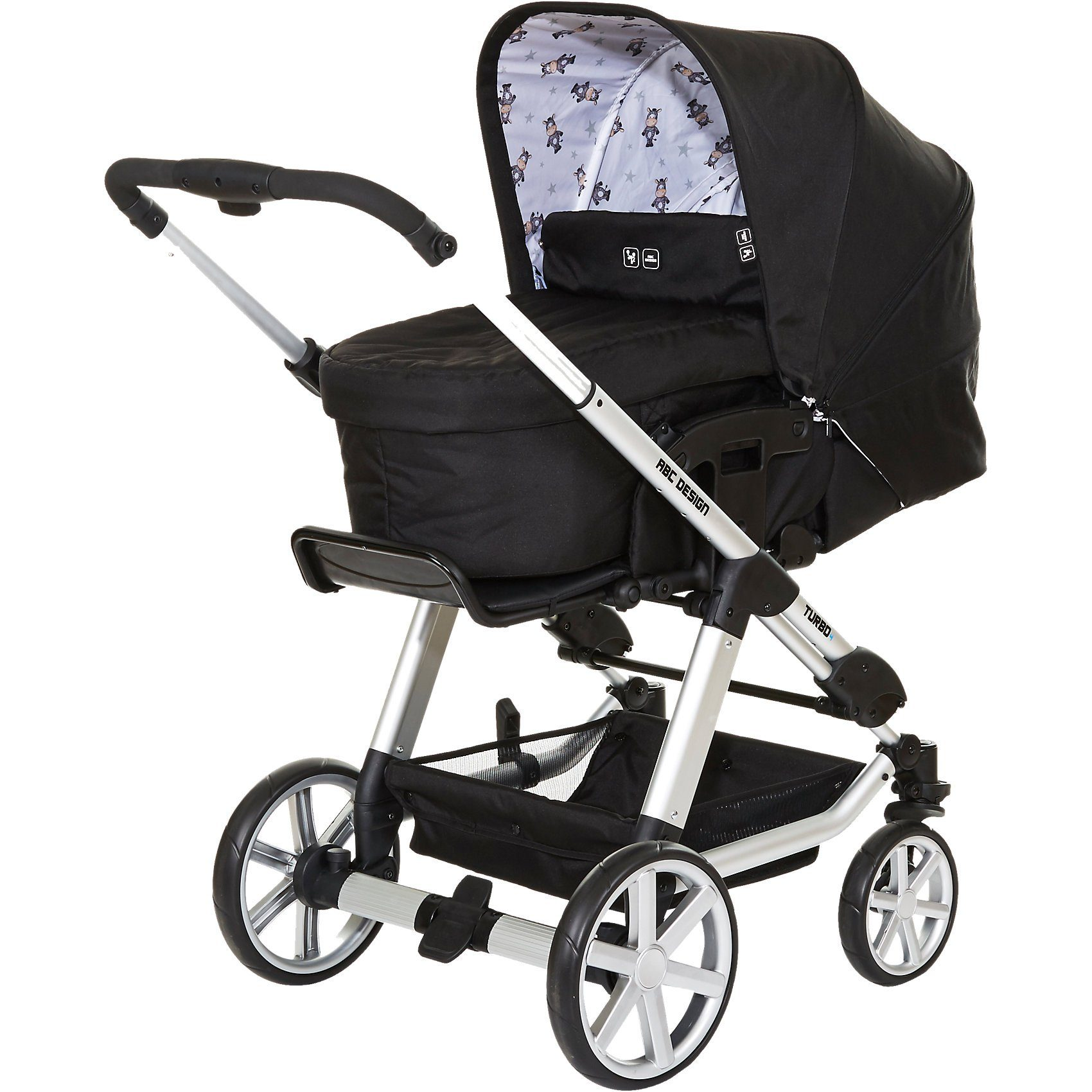 ABC Design Kombi Kinderwagen Turbo 4, zebra, 2017