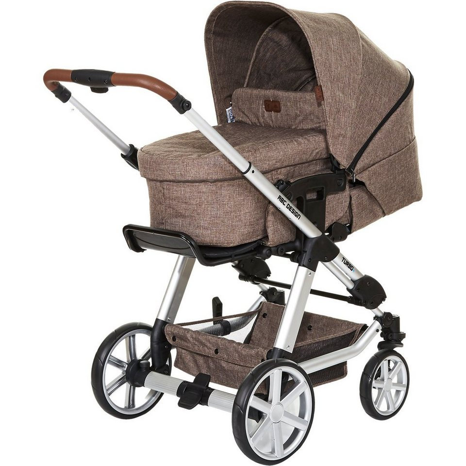 ABC Design Kombi Kinderwagen Turbo 4, bean, 2017 in braun meliert