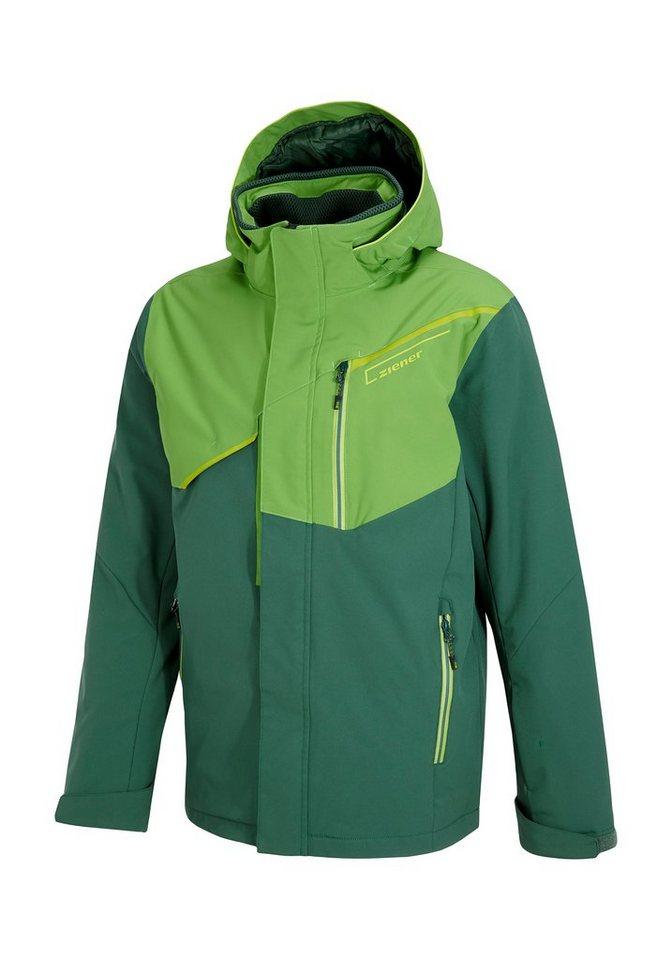 Ziener Jacke »TRIVE man (jacket ski)« in green dark