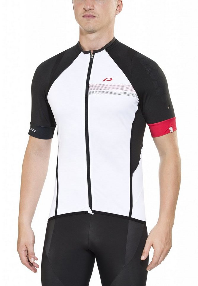 Protective Radtrikot »Race Shirt Men white« in weiß