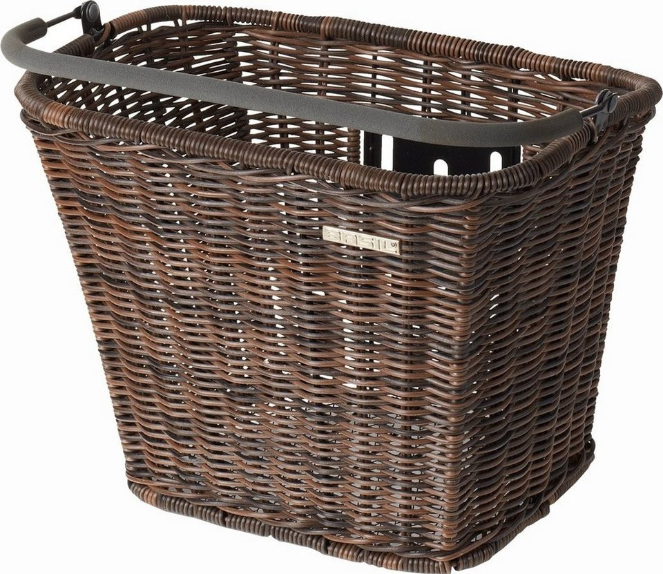 Basil Fahrradkorb »Basimply II Rattan-Look Vorderrad-Korb ohne Halter«