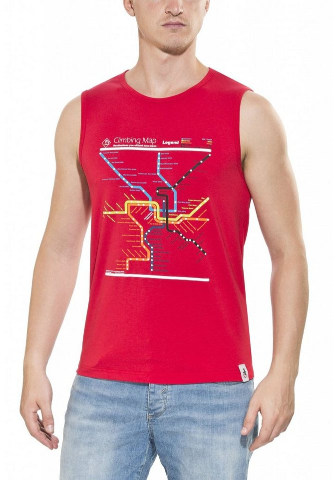 Chillaz Tanktop »Calanques Maps Top Men« in rot