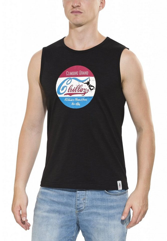 Chillaz Tanktop »Calanques Retro Top Men« in schwarz