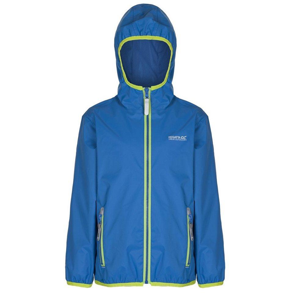 Regatta Outdoorjacke »Lever II Rain Jacket Kids« in blau