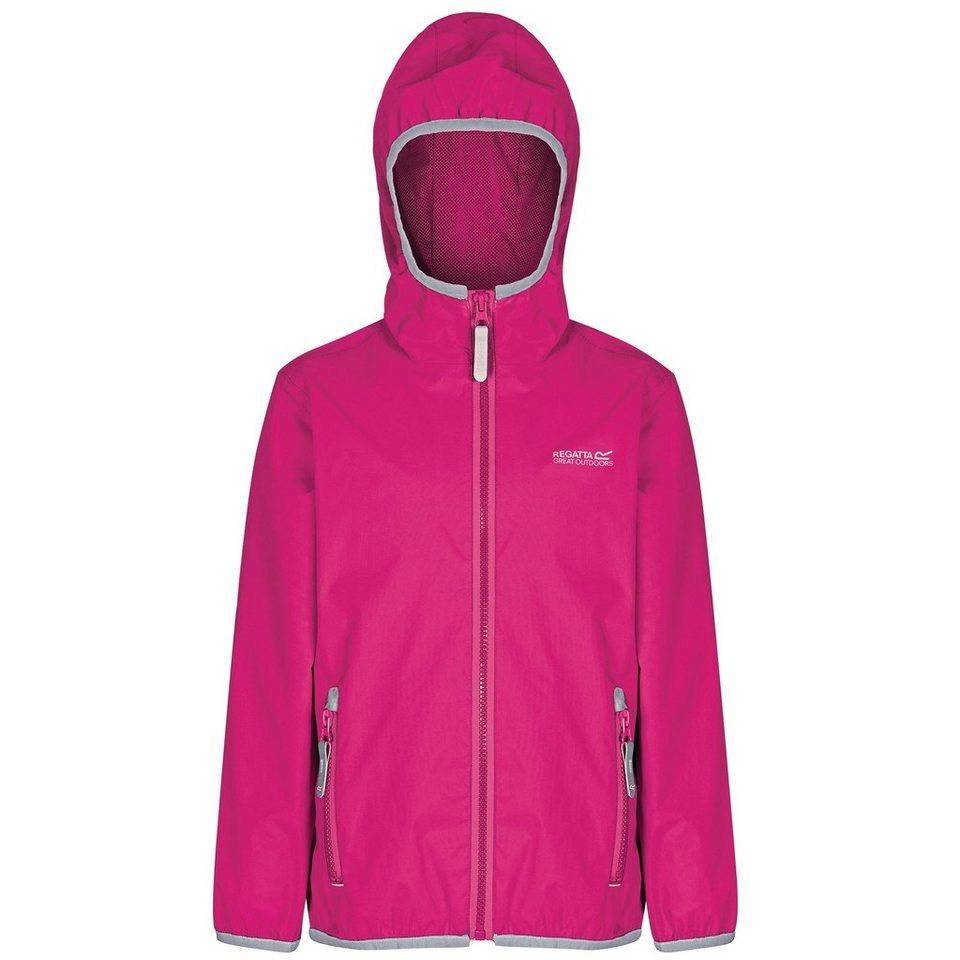 Regatta Outdoorjacke »Lever II Rain Jacket Kids« in pink