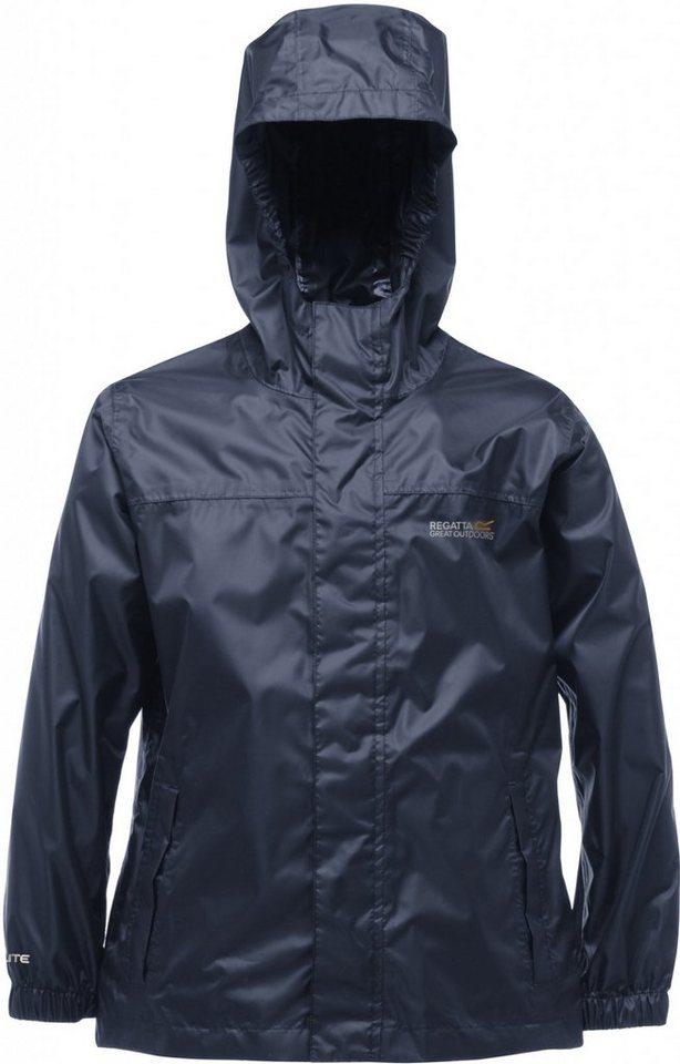 Regatta Outdoorjacke »Pack-It II Rain Jacket Kids« in blau