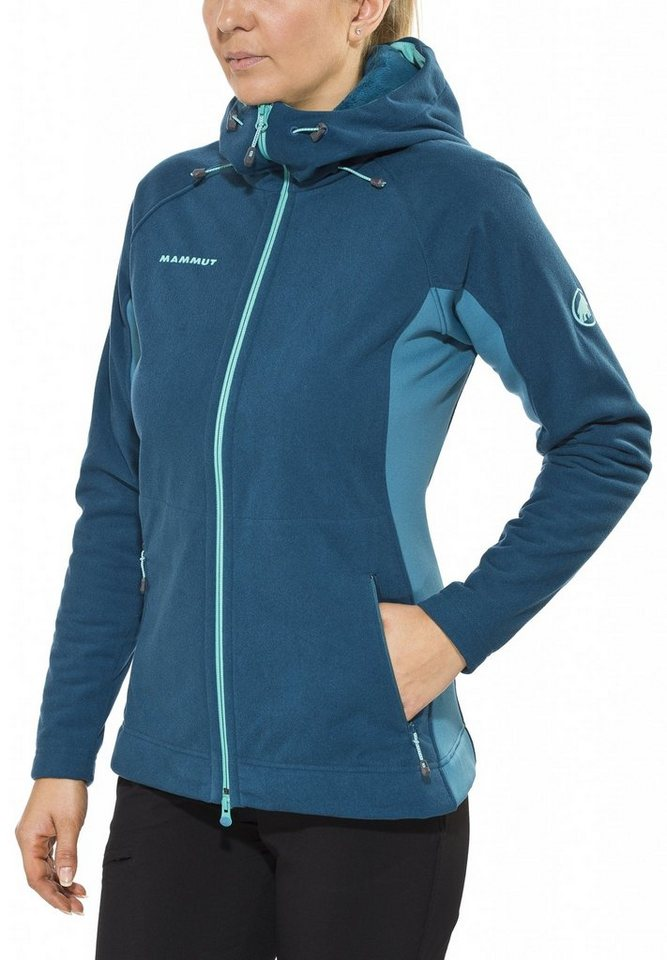 Mammut Outdoorjacke »Niva Hooded Midlayer Jacket Women« in grün