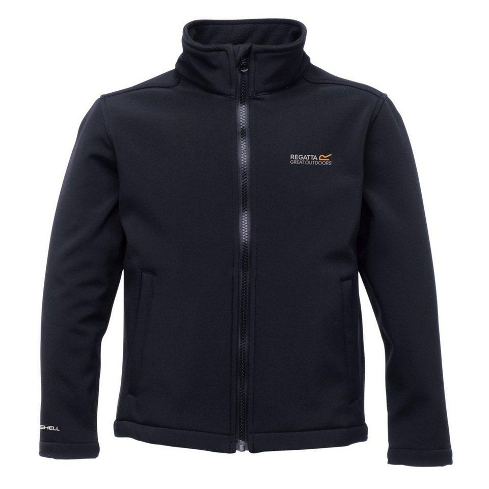Regatta Outdoorjacke »Canto II Softshell Jacket Kids« in schwarz