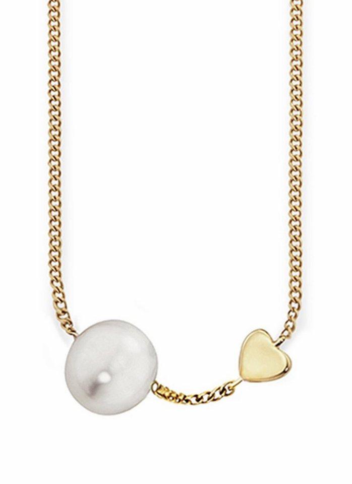 CAÏ Perlenkette »Pearl Love, C7159N/90/46/39+5« mit Süßwasserzuchtperle in Silber 925-goldfarben