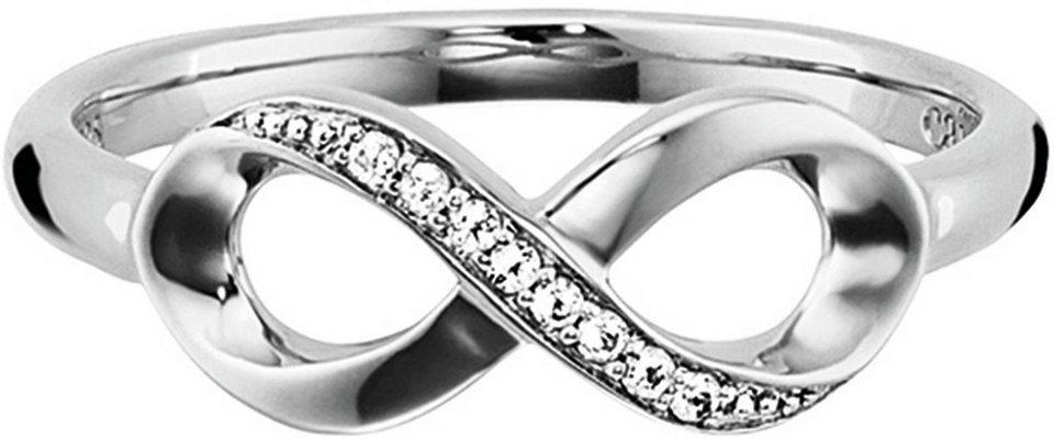 CAÏ Fingerring »Sensitive Dancer, C1715R/90/93« mit funkelnden Topasen in Silber 925