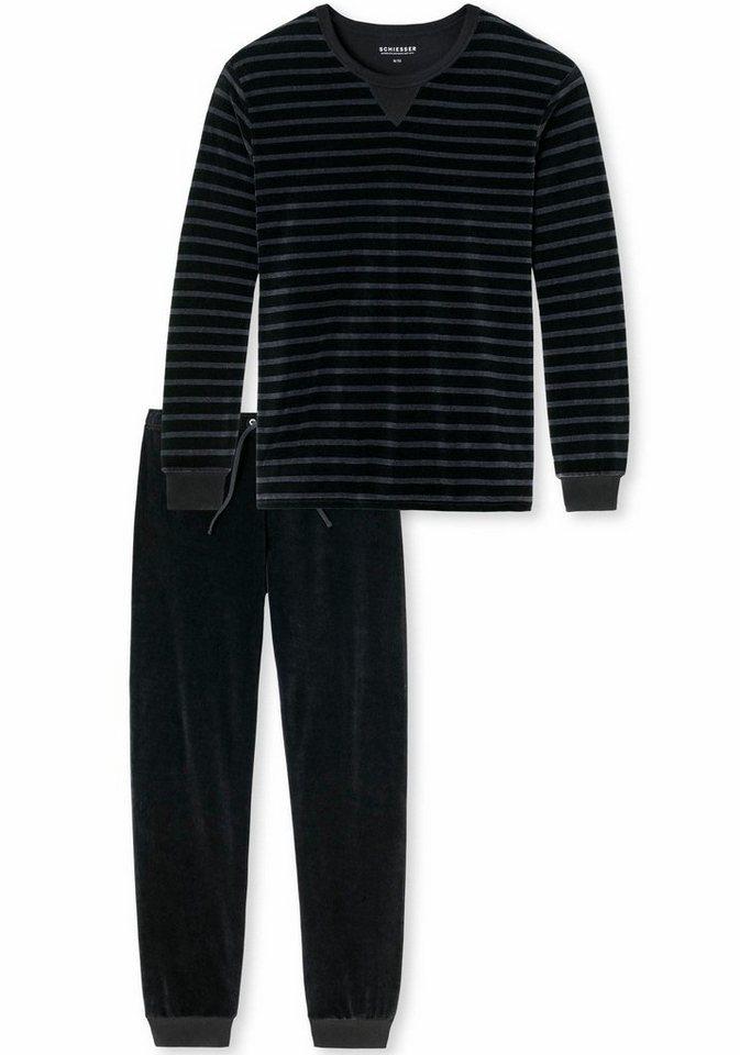 Schiesser Pyjama in schwarz