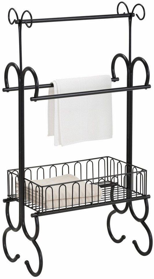 Home affaire Stilvoller Handtuchhalter in schwarz