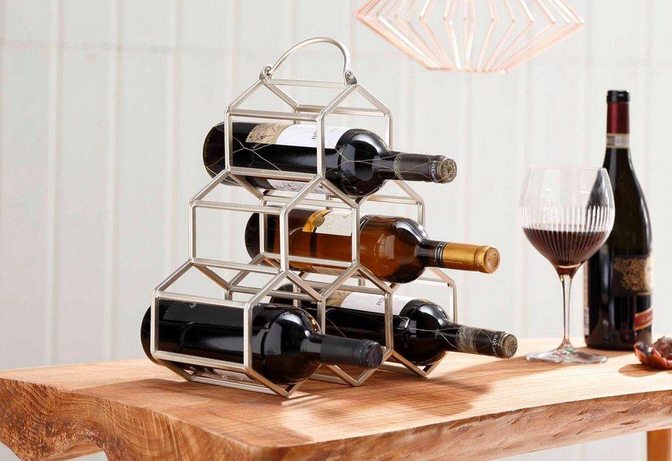 Home affaire Flaschenhalter in champagner