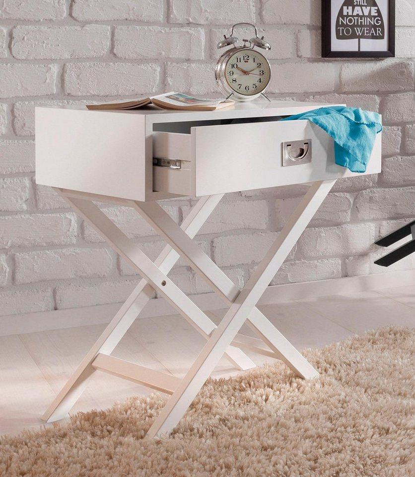Home affaire Beistelltisch in weiß