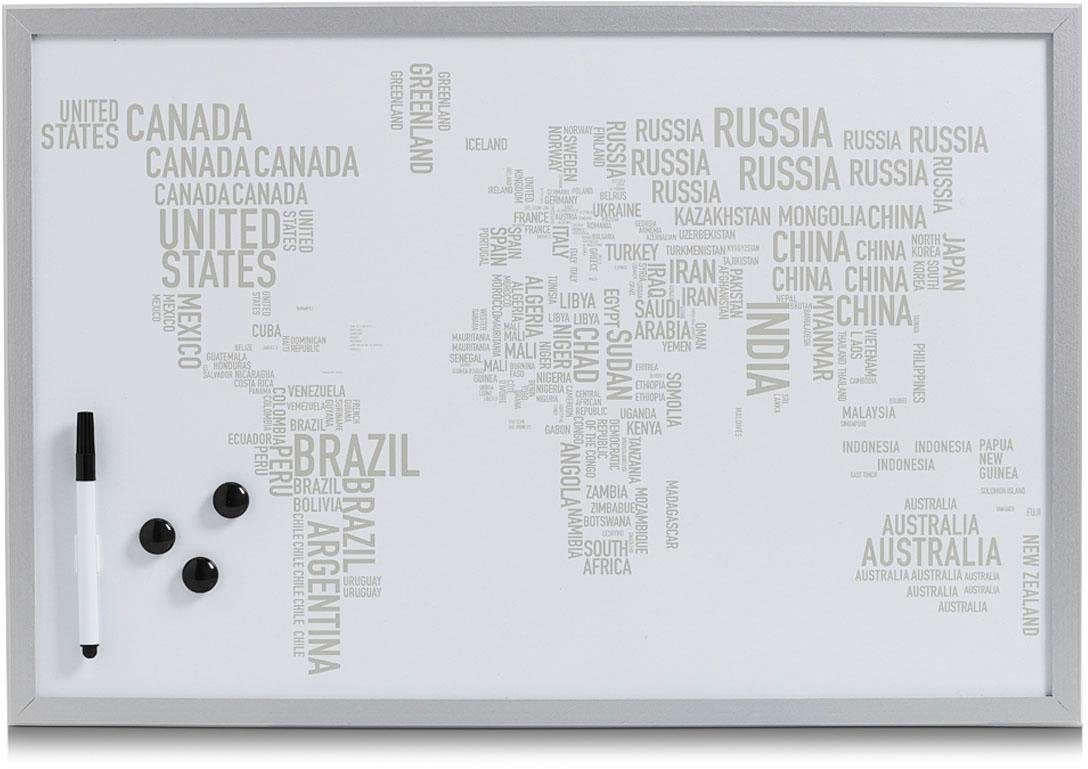 Home affaire Magnet-/Schreibtafel »World Letters«