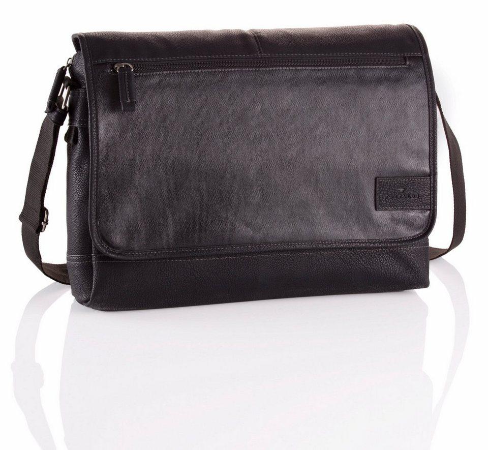 Tom Tailor Messenger Bag »JASON« in schwarz