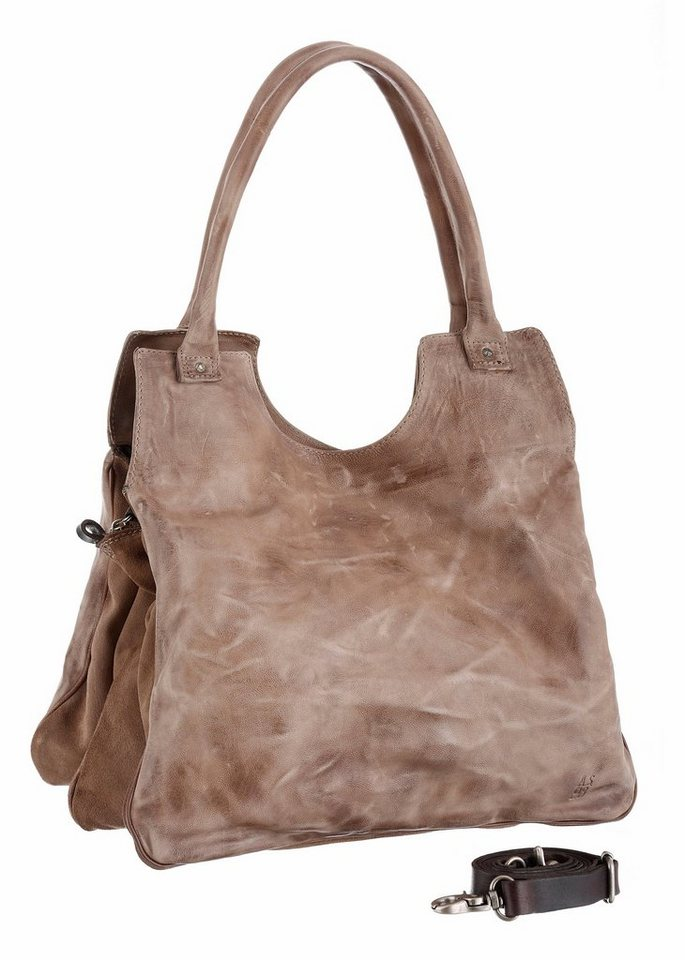 A.S.98 Shopper im Used Look in natur