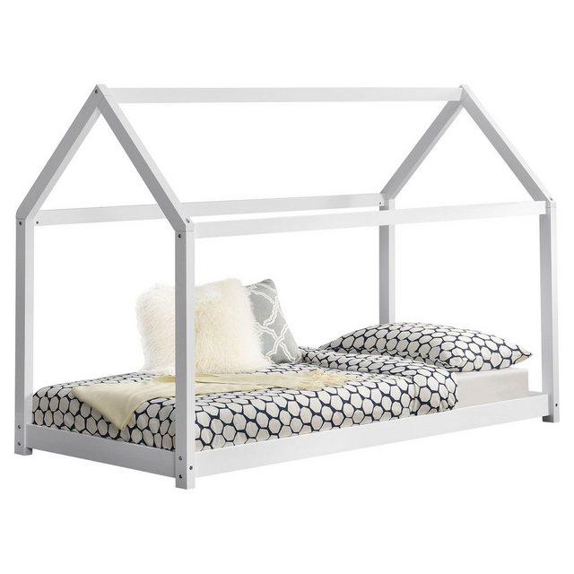 Kinderbetten - en.casa Kinderbett, Kinderbett 90x200cm Haus Holz Weiß Bettenhaus Hausbett Kinder Bett »  - Onlineshop OTTO