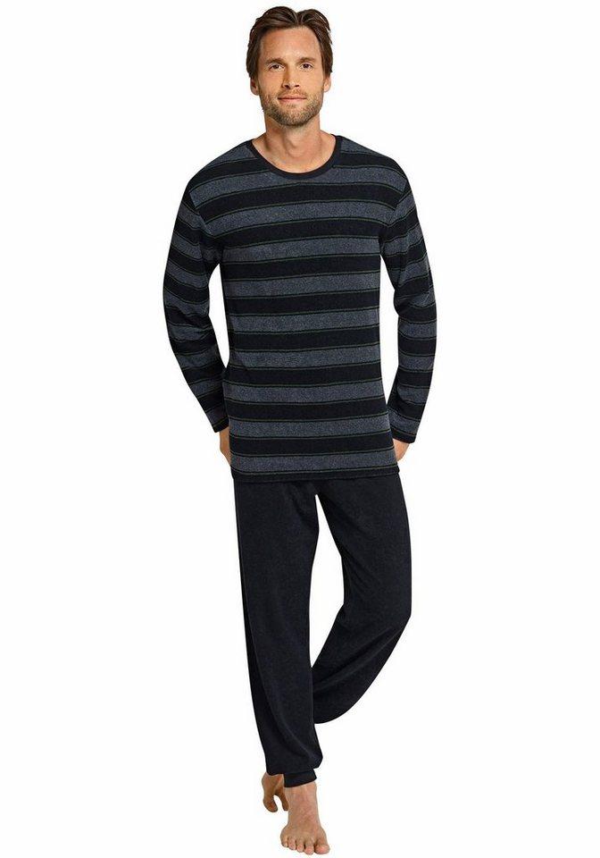 Schiesser Pyjama in anthrazit-me