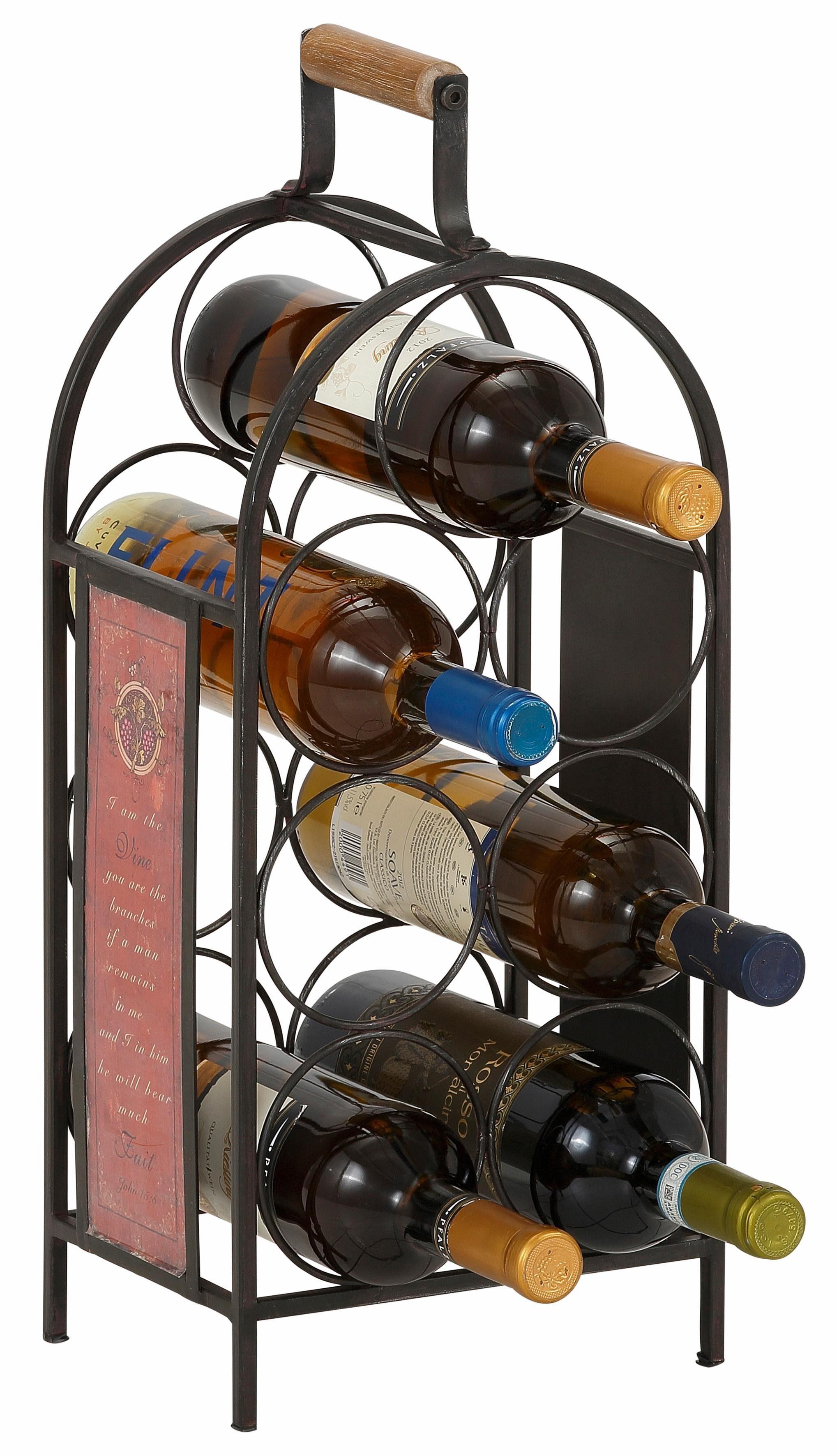 Home affaire Flaschenhalter für 7 Flaschen