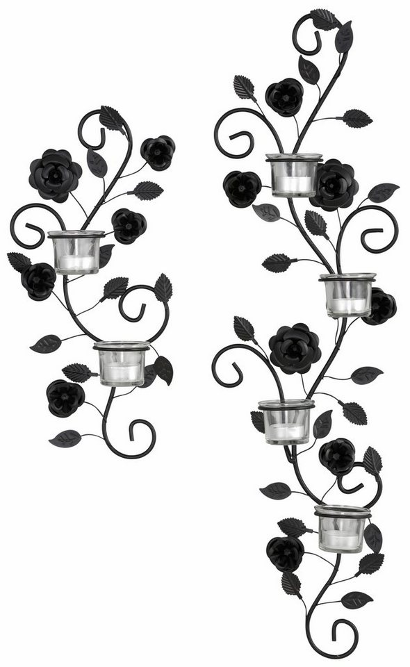 wandkerzenhalter blumenranke 2 tlg set kaufen otto. Black Bedroom Furniture Sets. Home Design Ideas