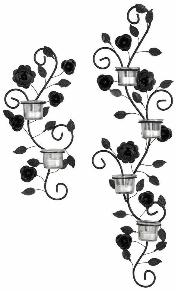 Wandkerzenhalter blumenranke 2 tlg set kaufen otto - Wandkerzenhalter schwarz ...