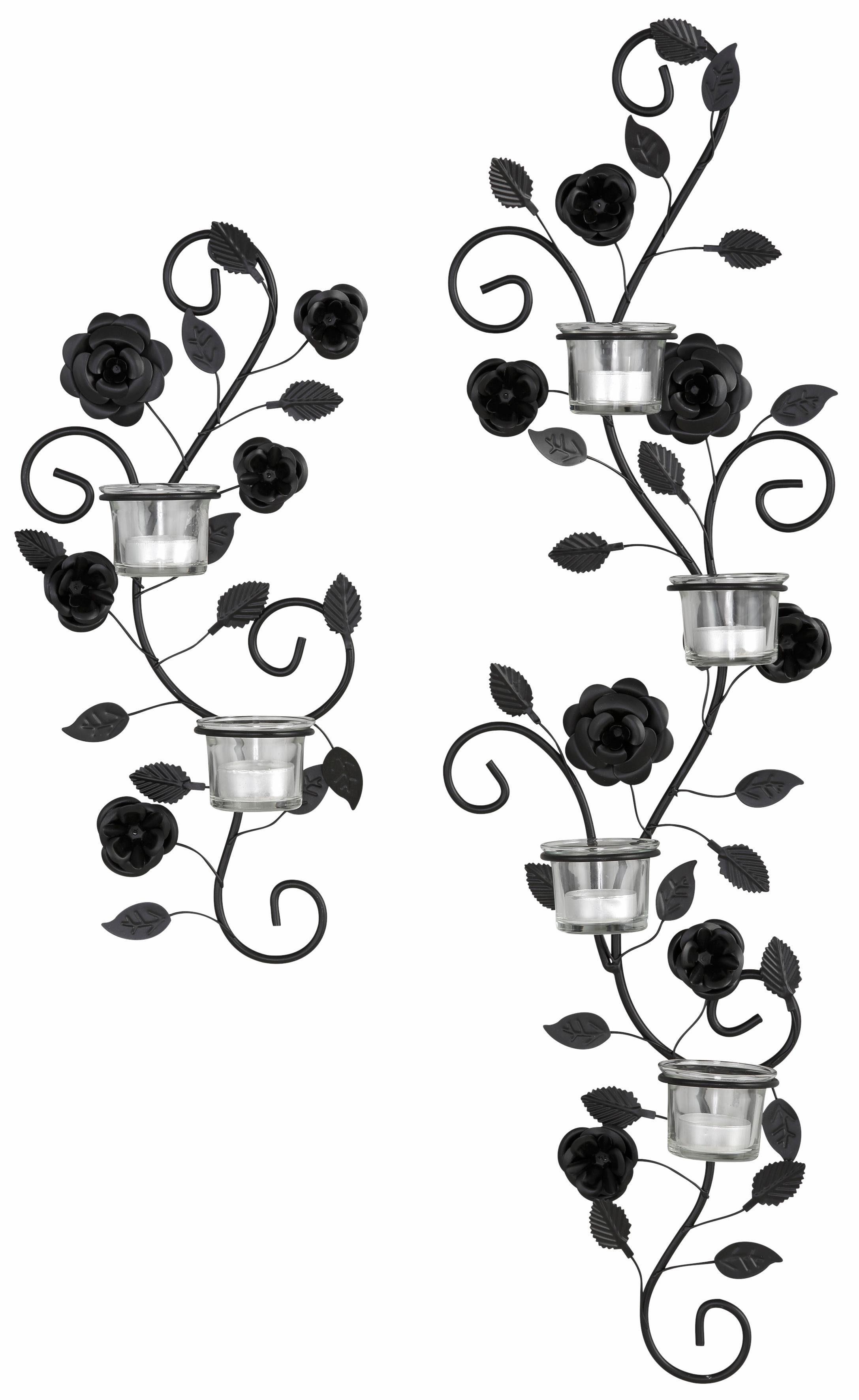 Wandkerzenhalter »Blumenranke« (2-tlg. Set)