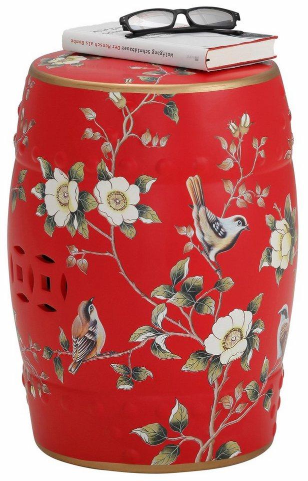 Home affaire Keramik-Beistelltisch in rot