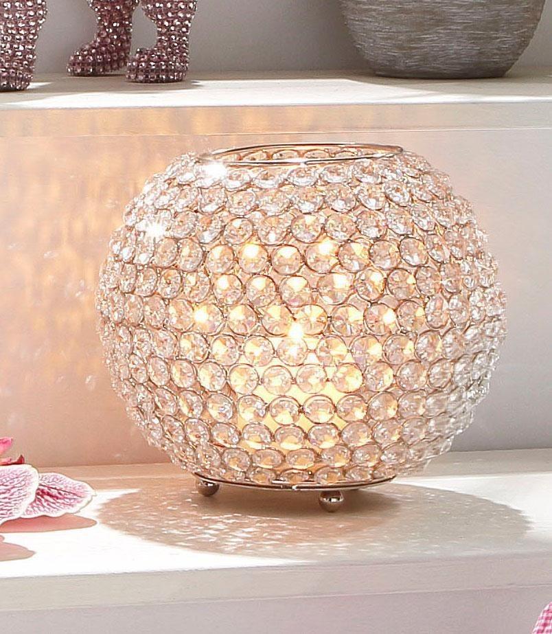 Premium collection by Home affaire Kerzenständer »Kristall« in silber