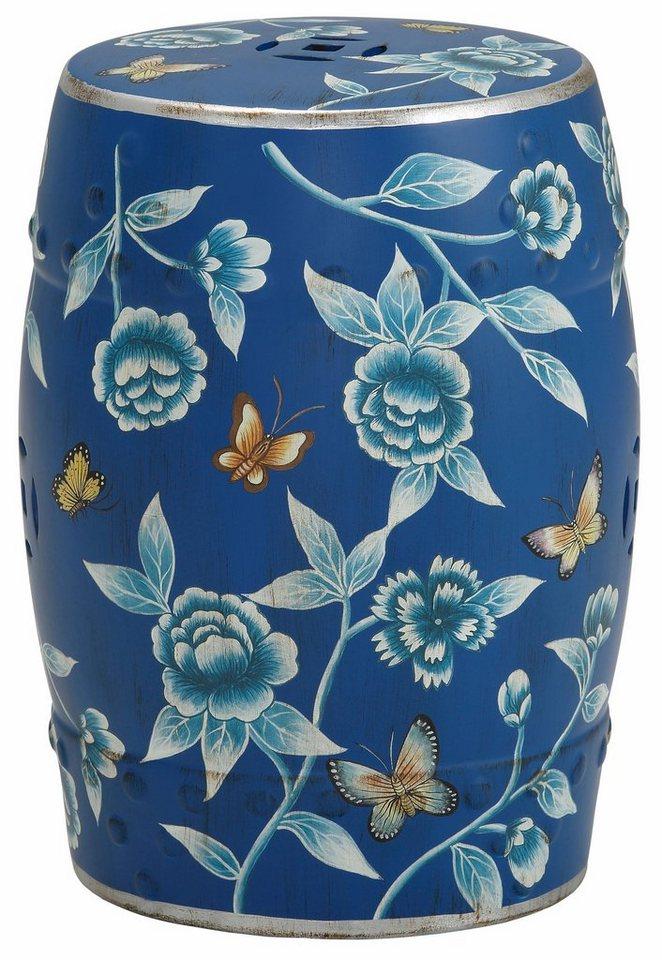 Home affaire Keramik-Beistelltisch in blau