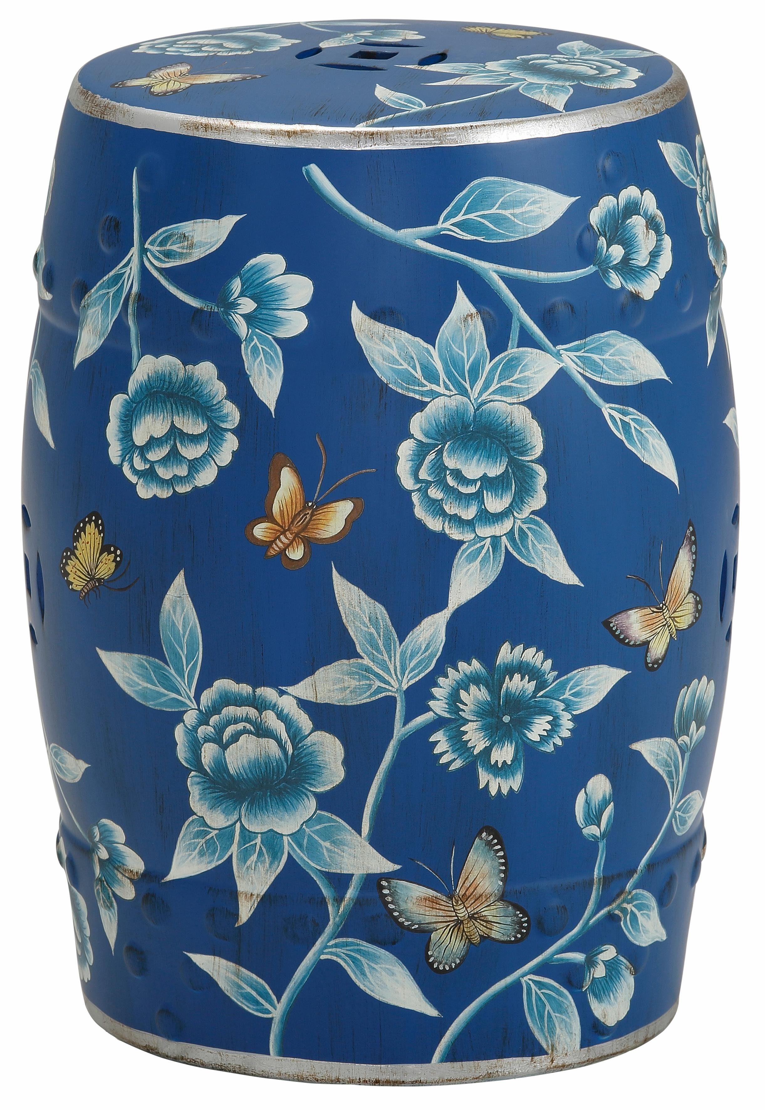 Home affaire Keramik-Beistelltisch mit Bemalung