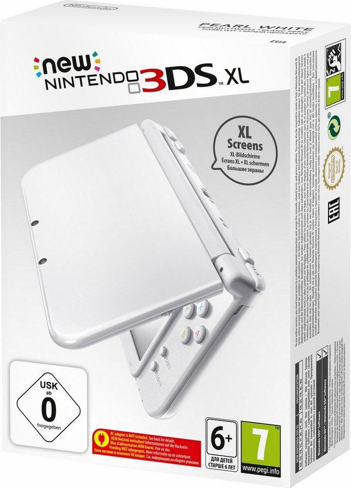 New Nintendo 3DS XL mit Netzteil in weiß