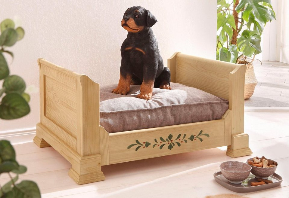 Premium Collection by Home affaire Hundebett »Teisendorf« in natur bemalt