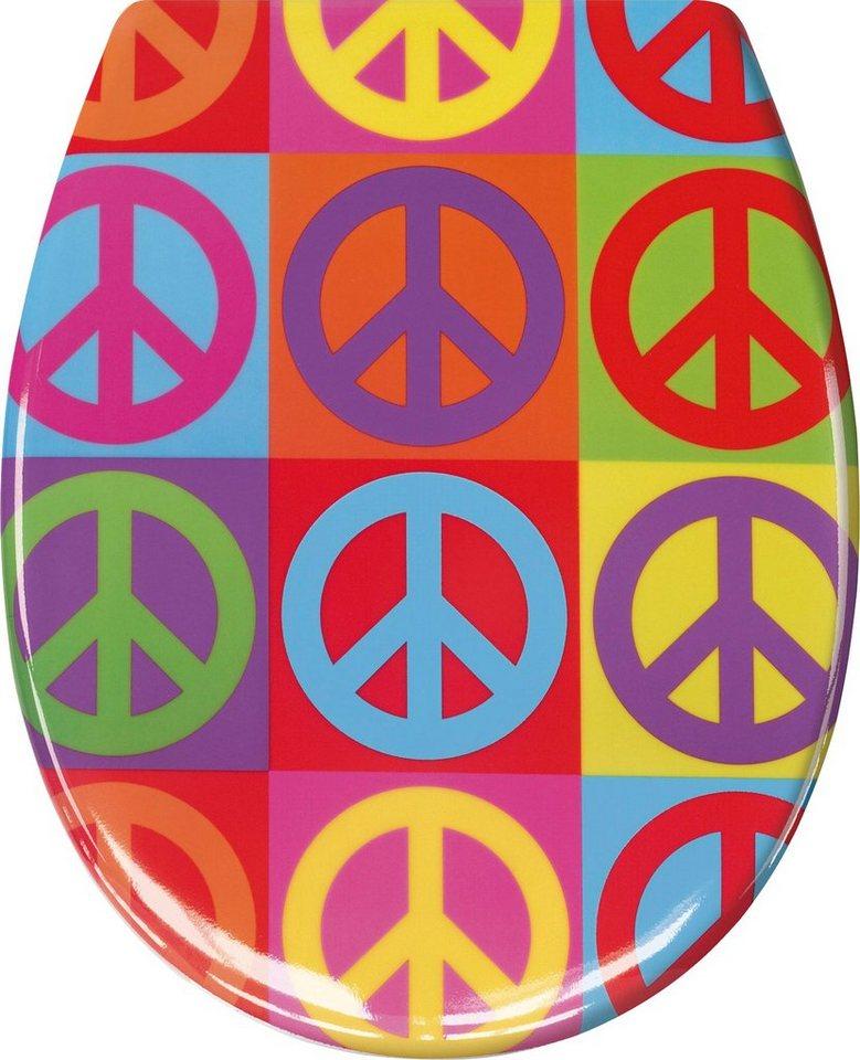 WC-Sitz »Peace« in multicolor