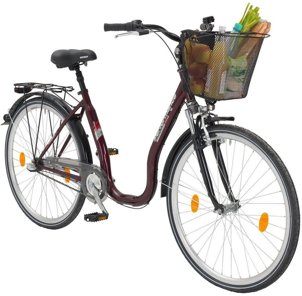 Citybike Tiefeinsteiger »Sylt «, 26/28 Zoll, 3 Gang, Rücktrittbremse in rot
