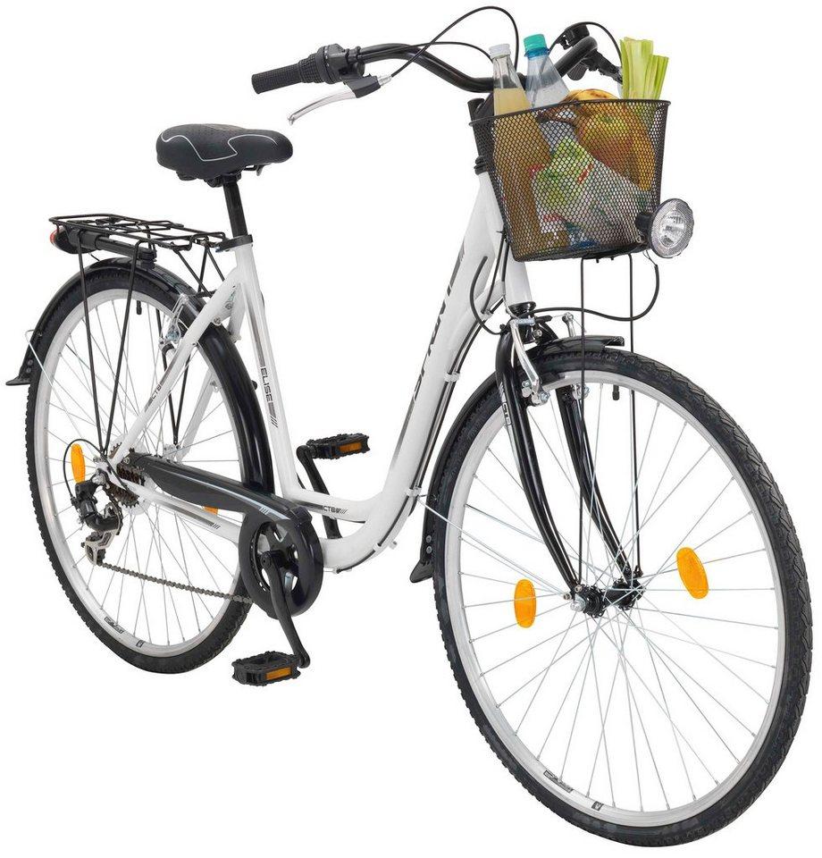 Citybike Damen »Elise«, 28 Zoll, 7 Gang, V-Bremsen in weiß