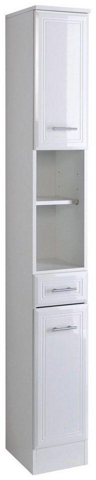 Hochschrank »Neapel«, Breite 25 cm in weiß