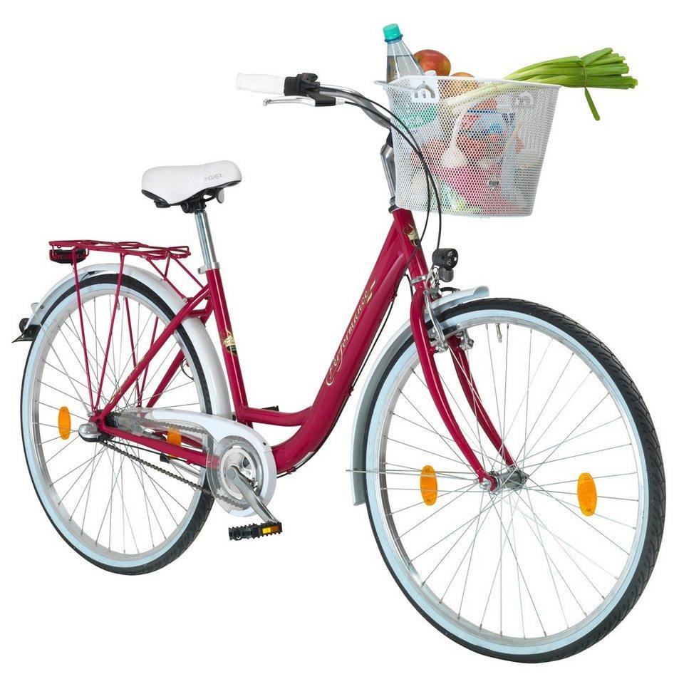 Citybike Damen »Pisa«, 26/28 Zoll, 3 Gang, Rücktrittbremse in rosa