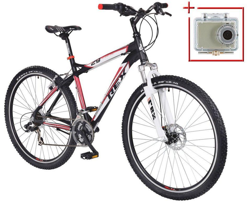 Mountainbike »Bergsteiger 630«, 29 Zoll, SHIMANO 21 Gang, Inkl. Action-Cam in schwarz