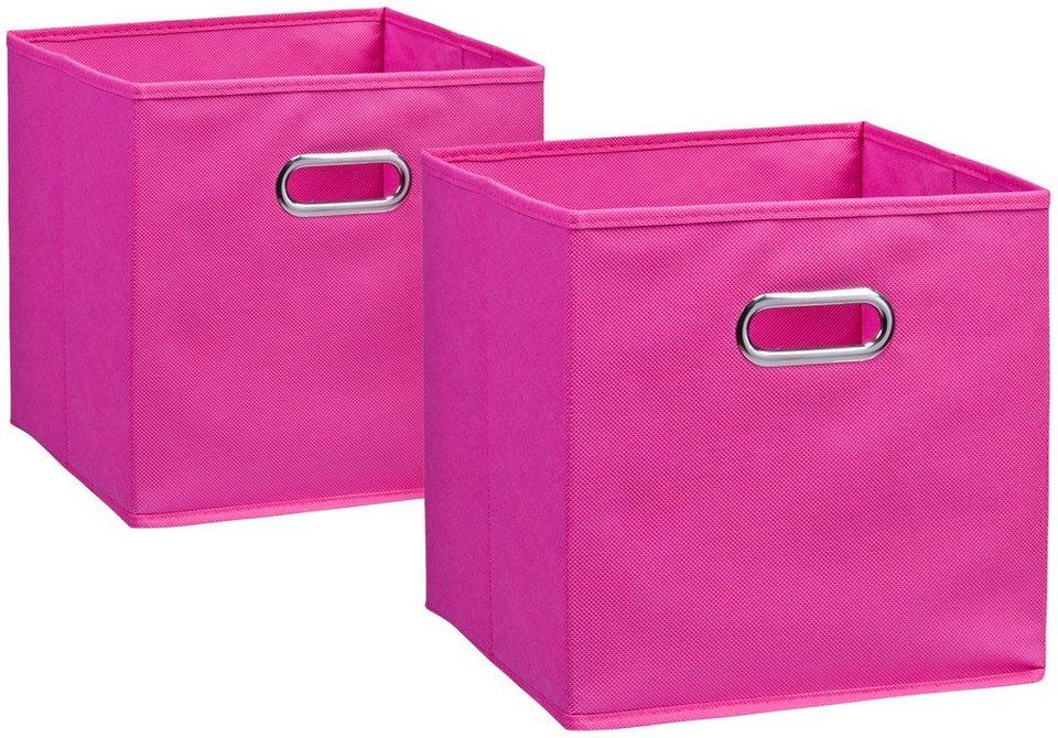 Aufbewahrungsbox »2er Set«, 28 x 28 cm in pink