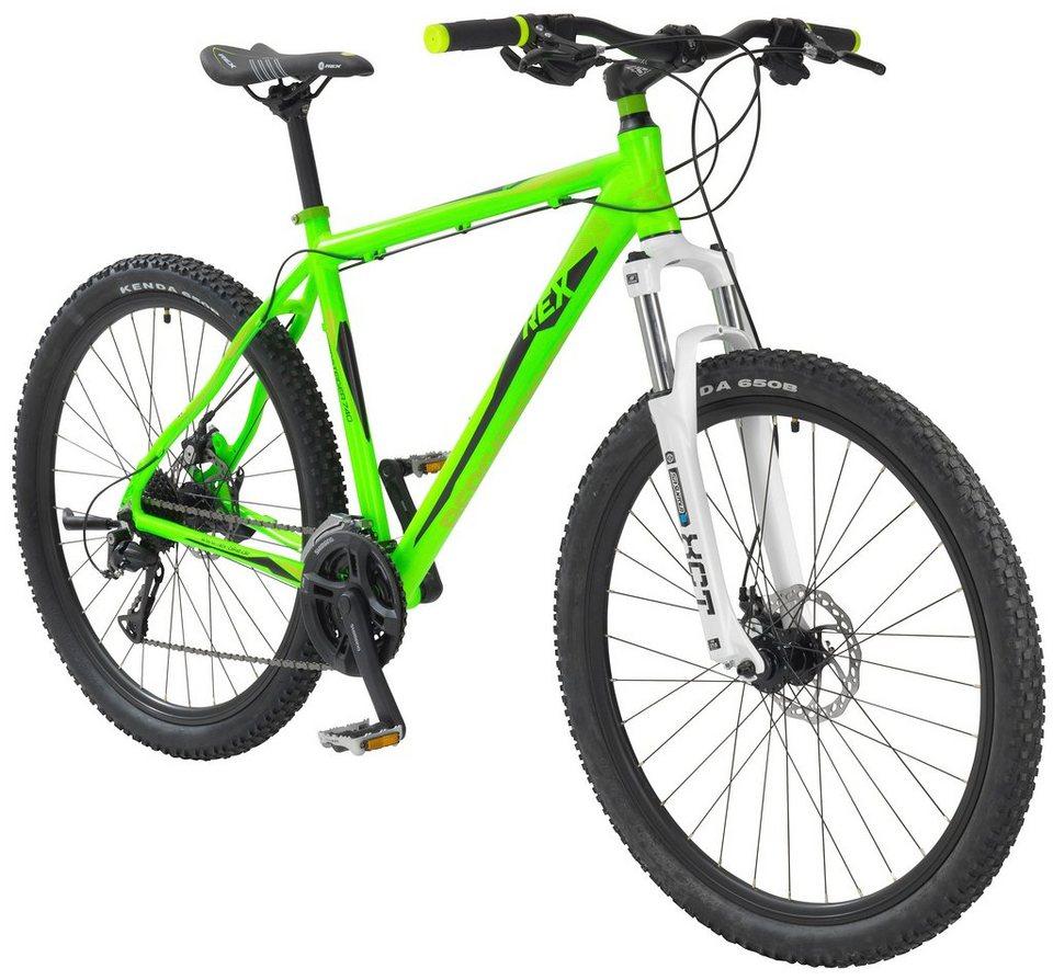 Mountainbike »REX BERGSTEIGER 650, 70 cm (27,5 Zoll)« in grün